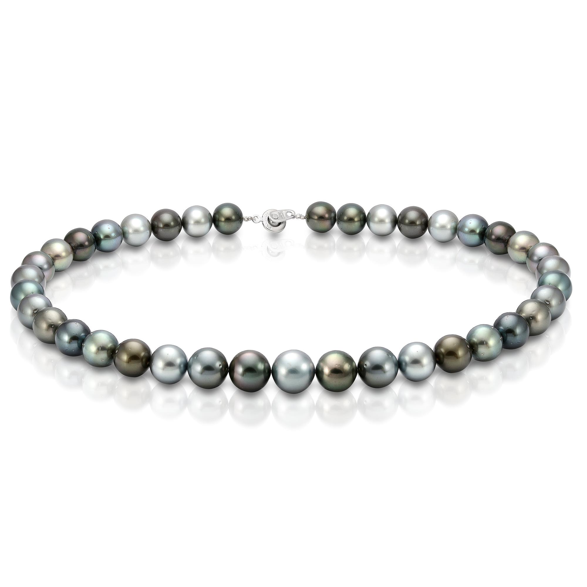 "Ожерелье ""микс"" из морского Таитянского жемчуга. Жемчужины 11,1-12,2 мм"