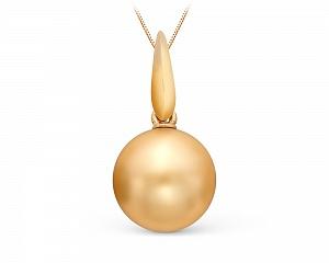 Подвеска из золота с Австралийской жемчужиной 13-13,5 мм