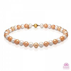"Ожерелье ""микс"" из круглого речного жемчуга. Жемчужины 11-12 мм"