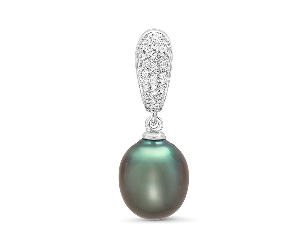 Кулон из серебра с морской Таитянской жемчужиной 10-12 мм