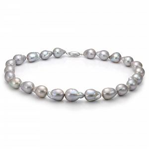 Ожерелье из серого барочного речного жемчуга. Жемчужины 13-16 мм