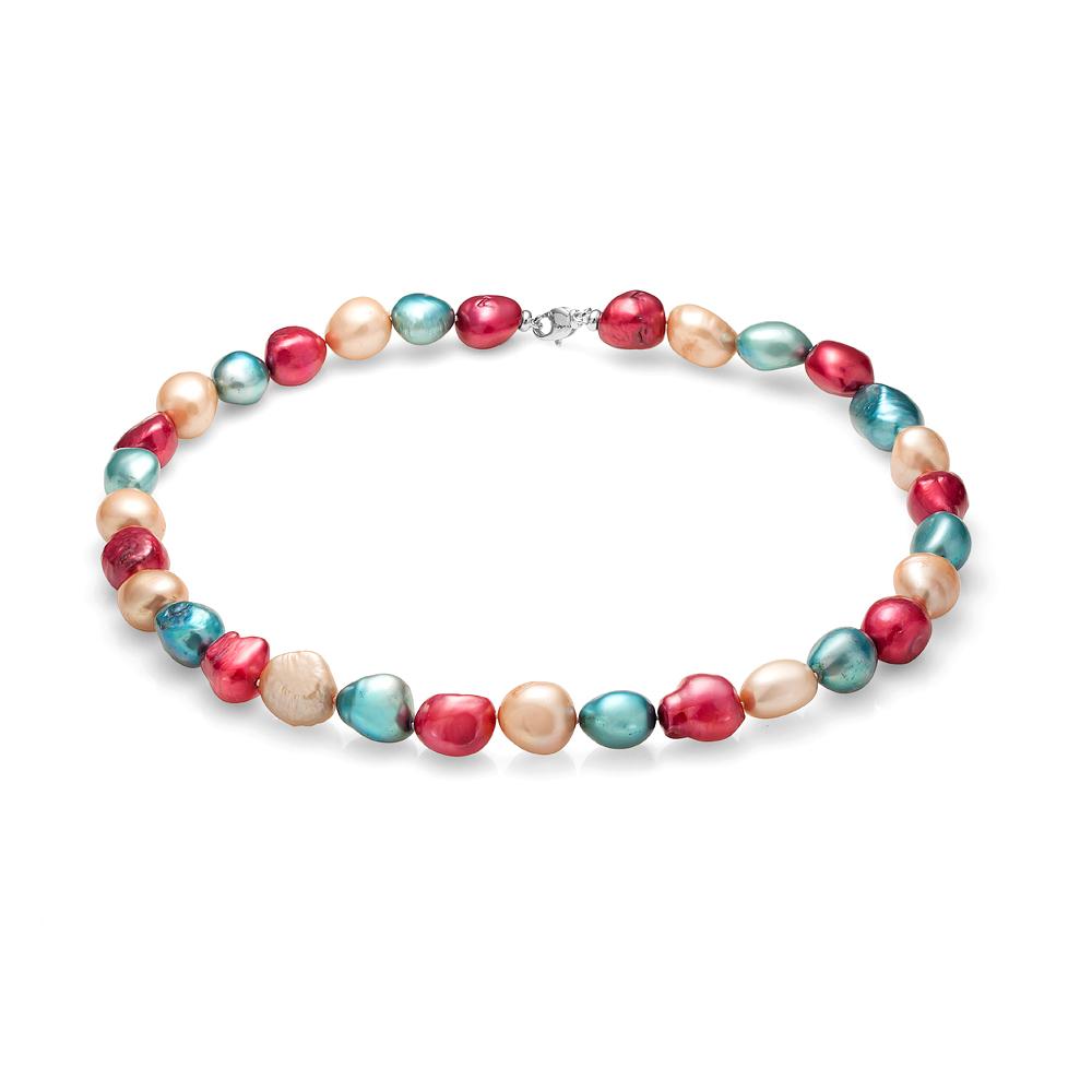 """Ожерелье """"микс"""" из барочного речного жемчуга. Жемчужины 11-12 мм"""