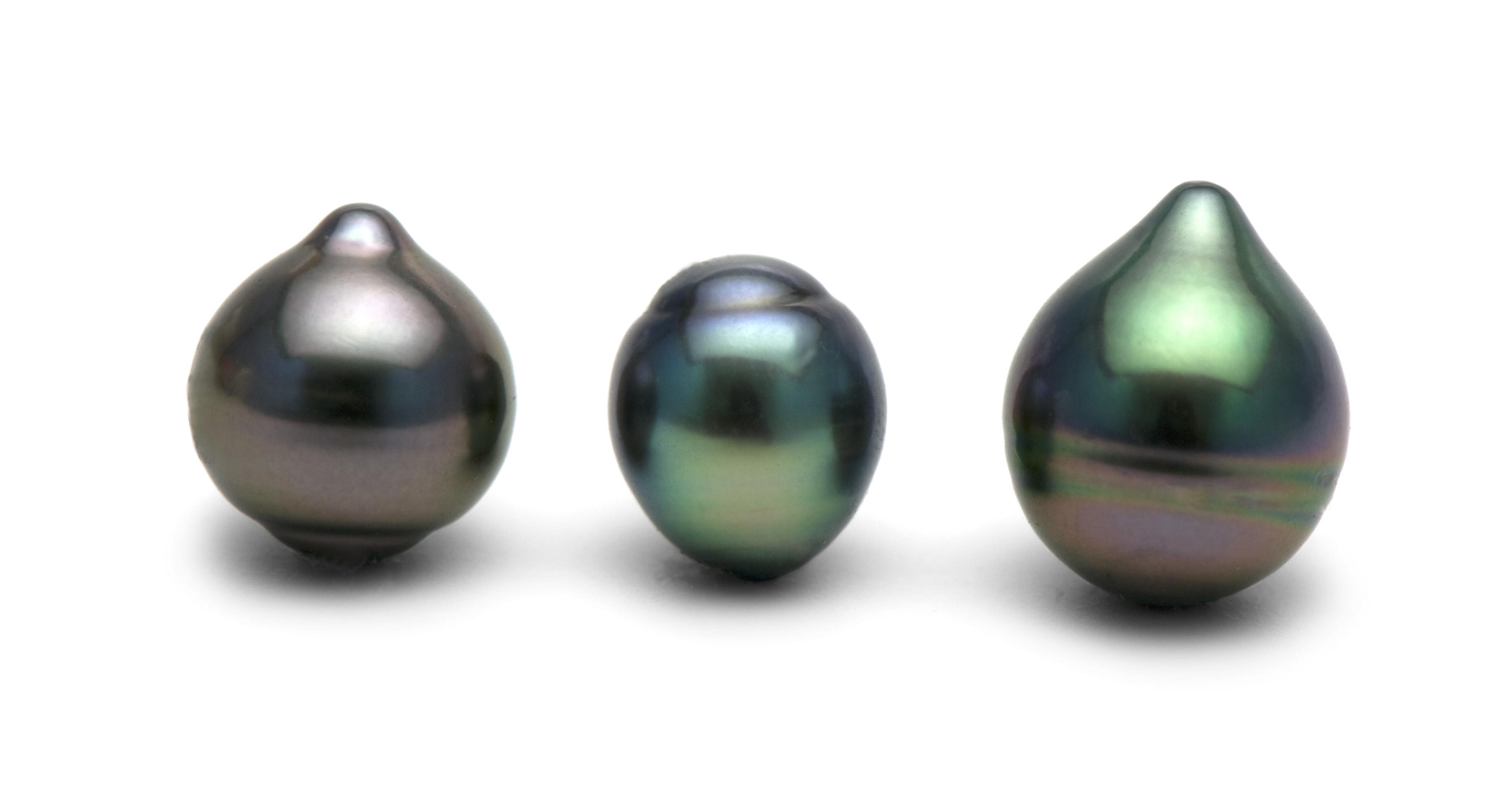 "Жемчужина ""капля"" морская Таитянская. Размер 10-10,5 мм. Класс наивысший ААА"