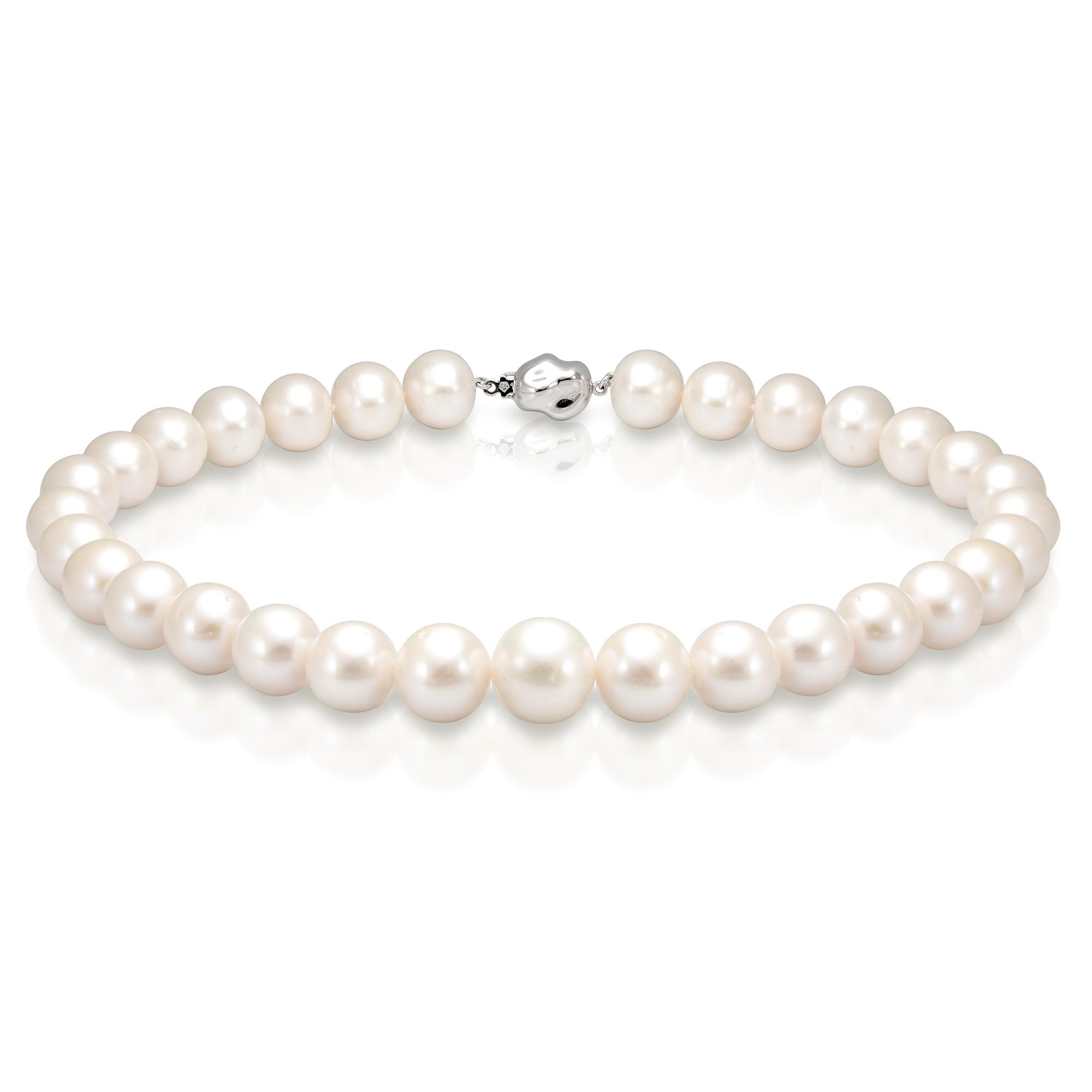 Ожерелье из белого морского жемчуга. Жемчужины 12,5-14,5 мм
