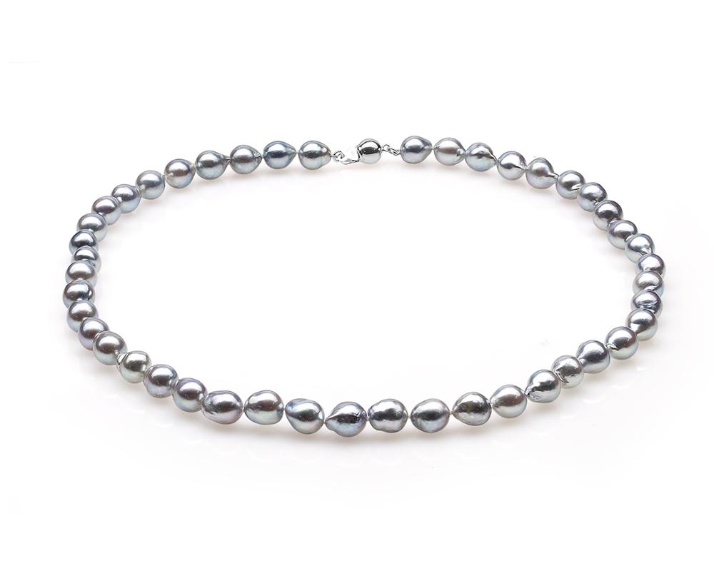Ожерелье из серебристого барочного жемчуга Акойя (Япония). Жемчужины 8-8,5 см