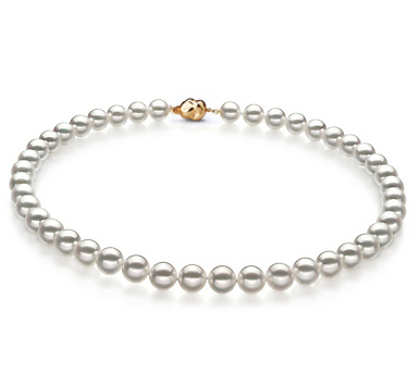 Ожерелье из белого морского Австралийского жемчуга 10-12,1 мм