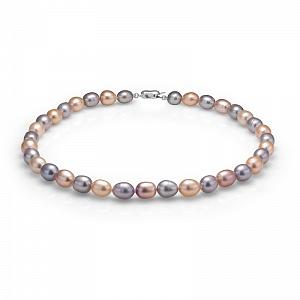 "Ожерелье ""микс"" из рисообразного речного жемчуга 10-11 мм"