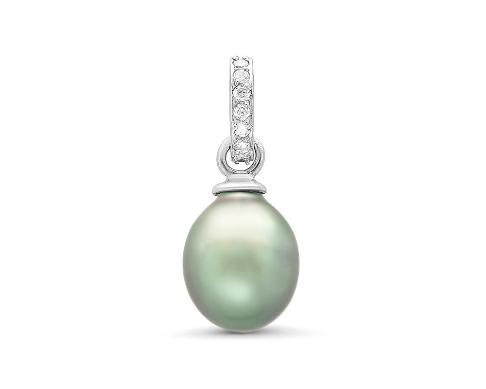 """Кулон """"Богема"""" из серебра с серебристой морской Таитянской жемчужиной"""