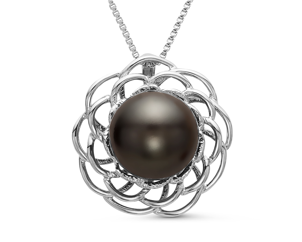 Кулон из серебра с морской Таитянской жемчужиной 11 мм