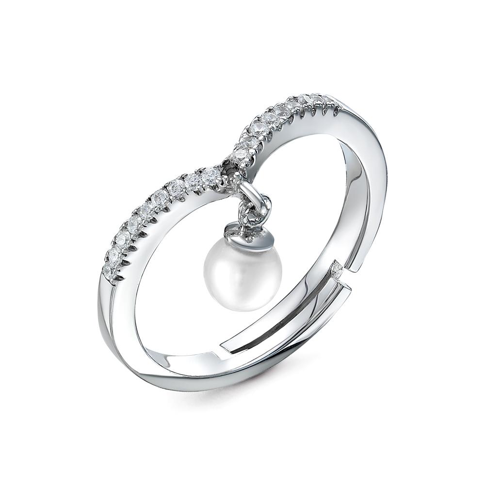 Кольцо из серебра с белой речной жемчужиной 4,5-5 мм