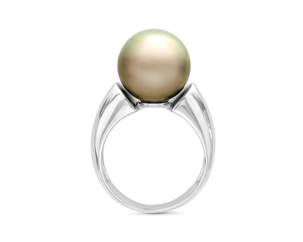 Кольцо из серебра с Таитянской жемчужиной 11,6-11,9 мм