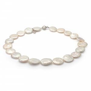 Ожерелье из белого барочного речного жемчуга. Жемчужины 15-17 мм