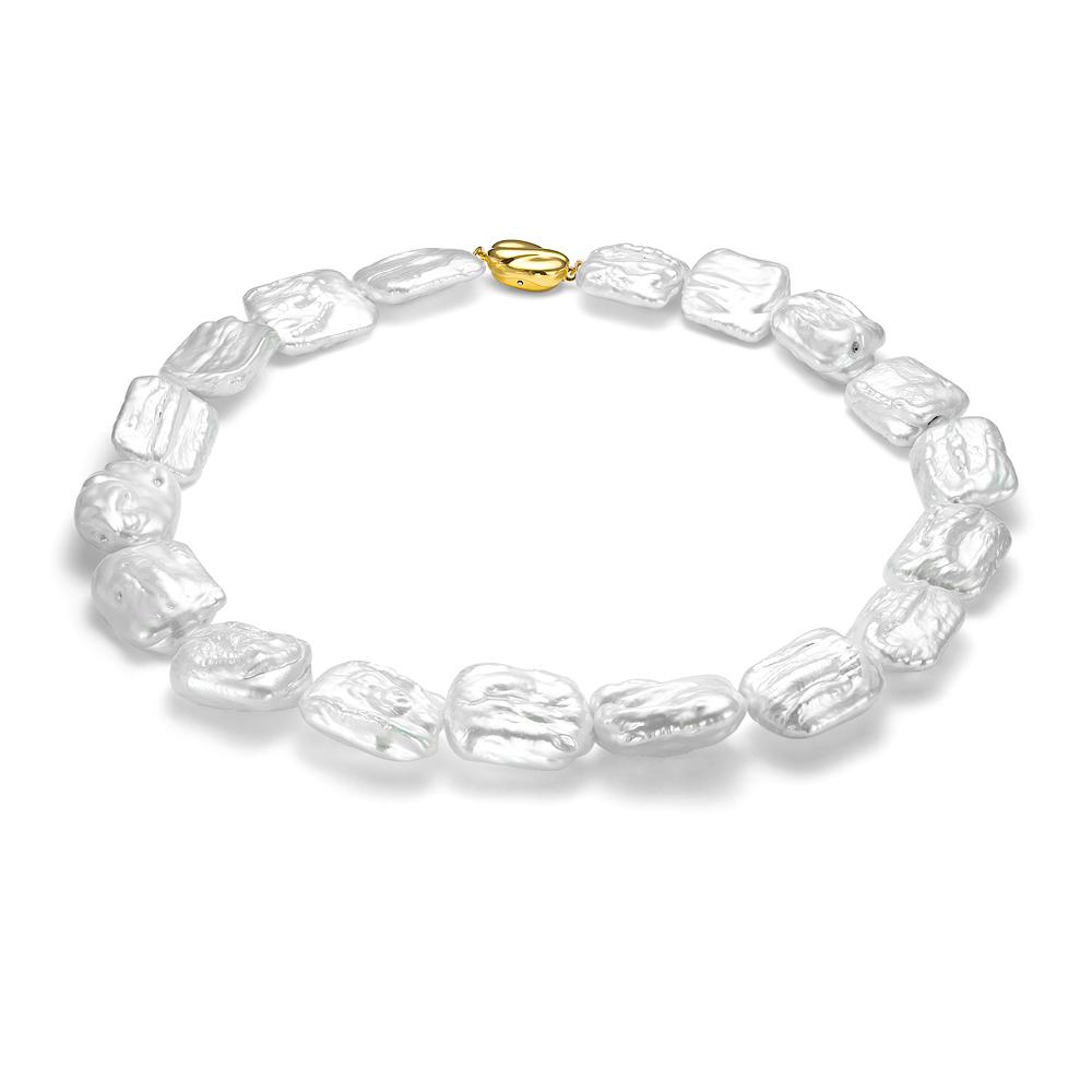 Ожерелье из белого барочного речного жемчуга. Жемчужины 18-21 мм