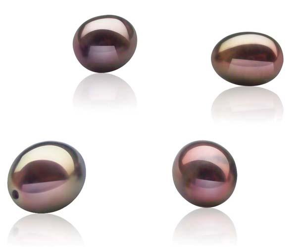 """Жемчужина """"капля"""" шоколадная пресноводная 8,5-9 мм. Качество наивысшее"""