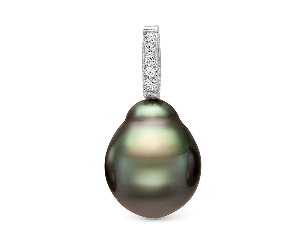 Кулон из серебра с морской Таитянской жемчужиной 10-10,5 мм