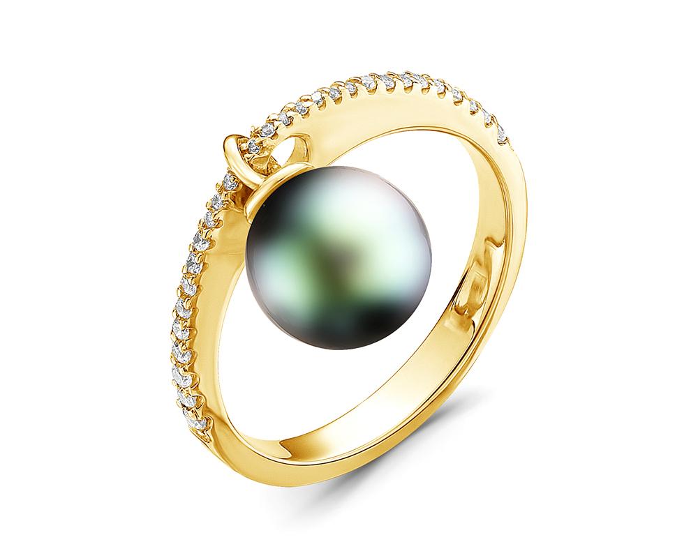 Кольцо из золота с Таитянской жемчужиной 10-10,5 мм