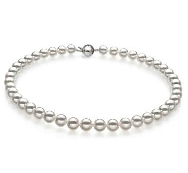 Ожерелье из белого круглого морского Австралийского жемчуга 9-11,4 мм