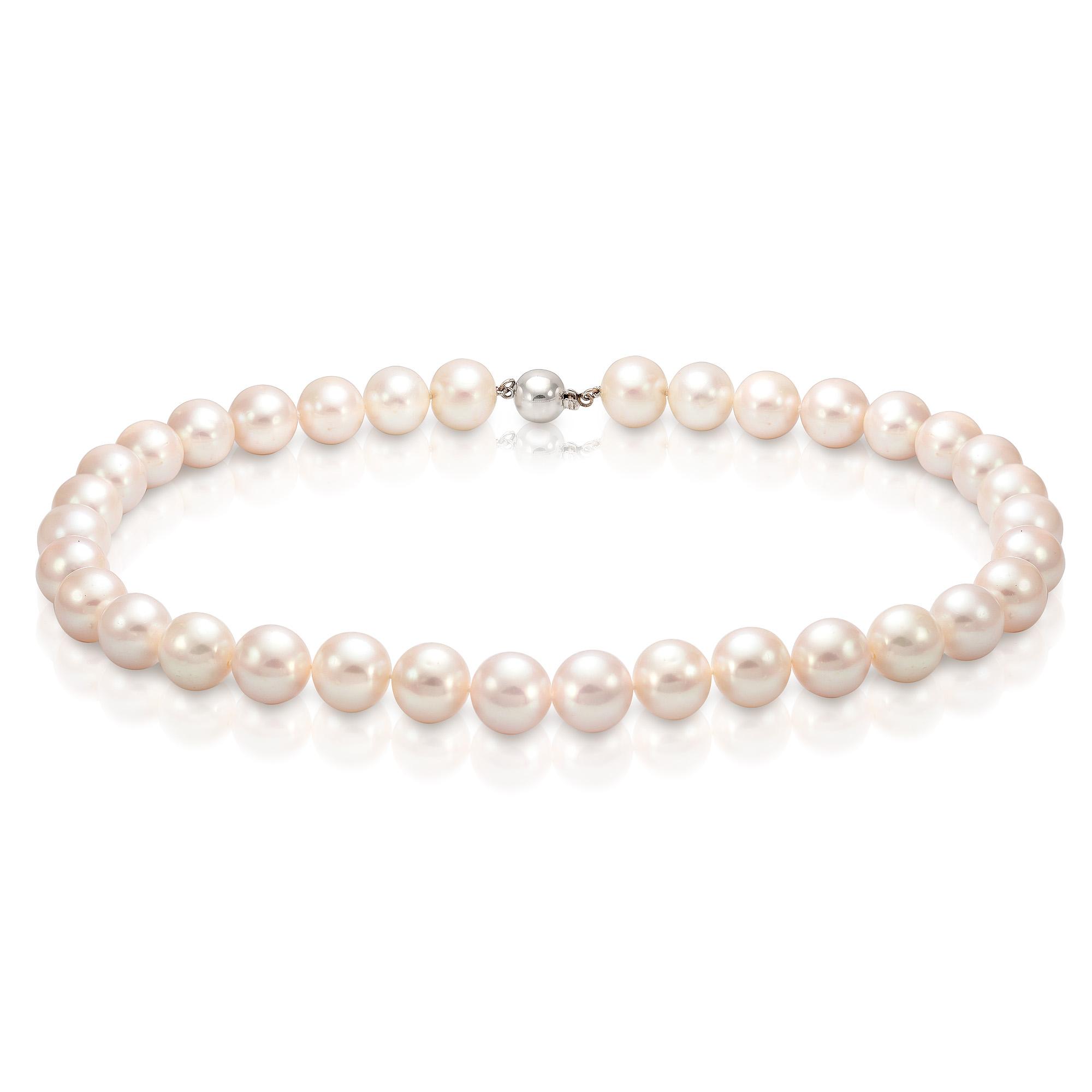 Ожерелье из белого морского жемчуга. Жемчужины 11-11,5 мм