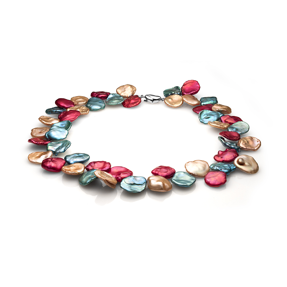 """Ожерелье """"микс"""" из цветного барочного жемчуга. Жемчужины 11-12 мм"""