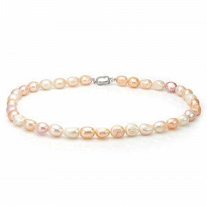"""Ожерелье из """"микс"""" из барочного речного жемчуга. Жемчужины 9-10 мм"""