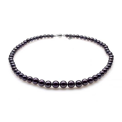 Ожерелье из черного морского жемчуга. Жемчужины 5-9,5 мм