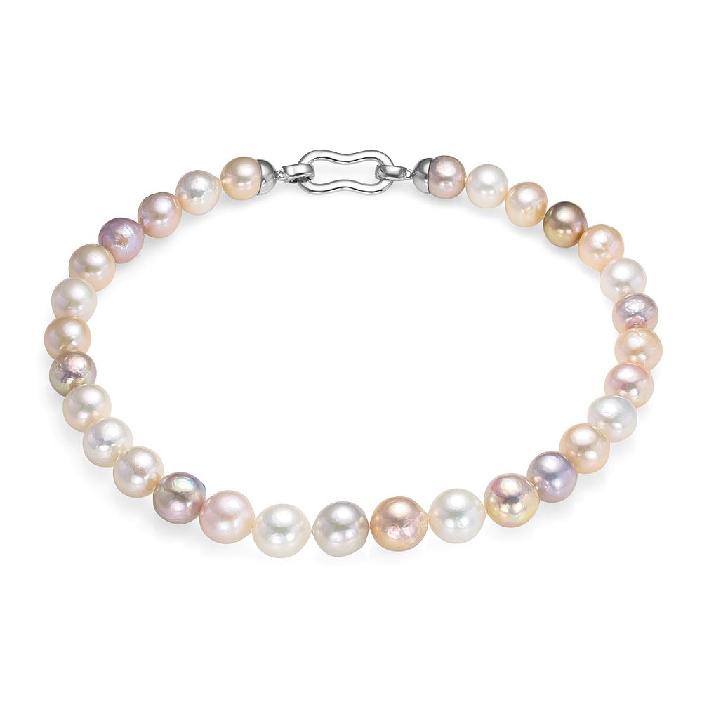 "Ожерелье ""микс"" из 30 жемчужин из розового речного жемчуга 11,5-13 мм"
