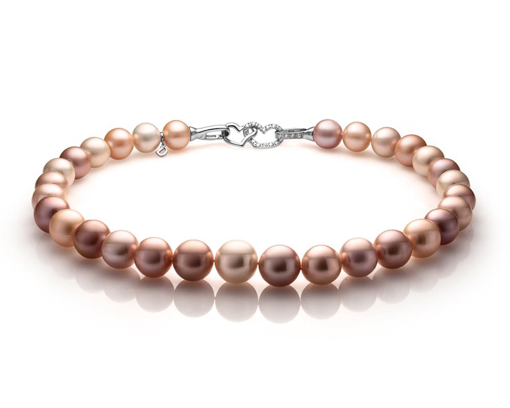 Ожерелье из 30 жемчужин из розового морского жемчуга