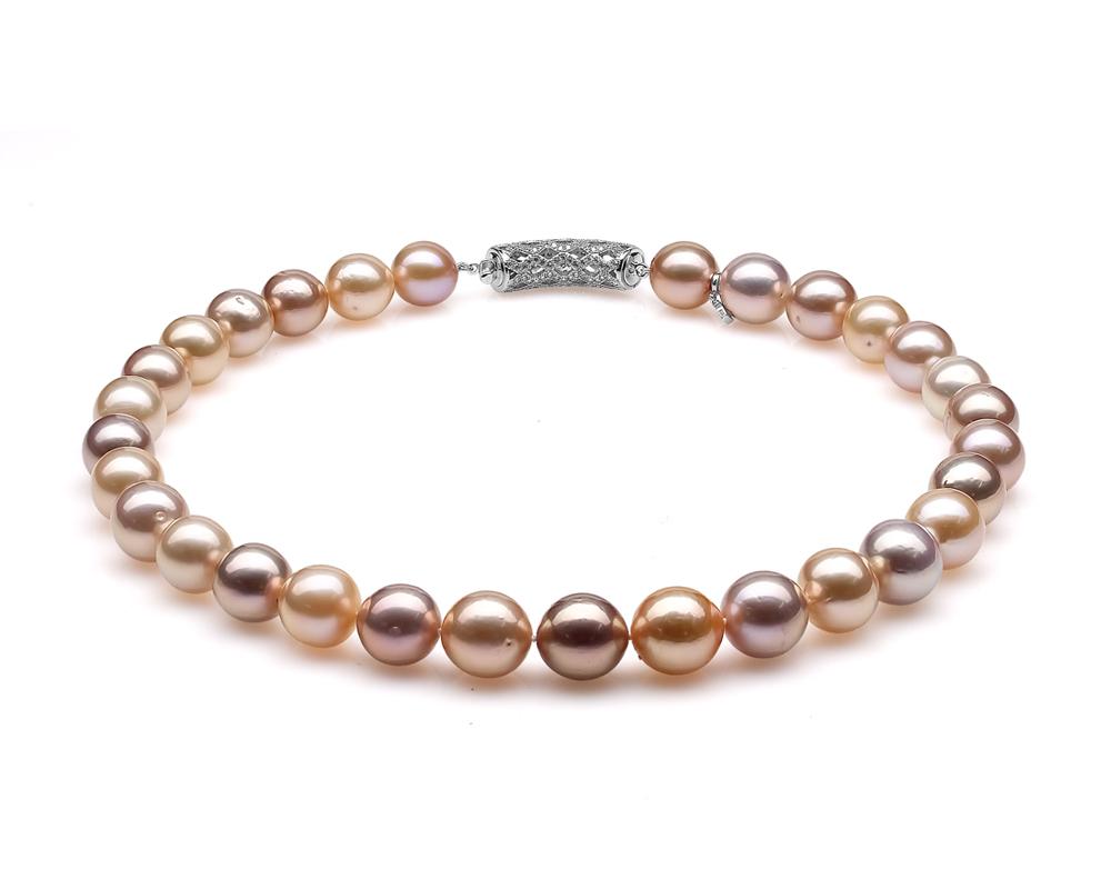 """Ожерелье из 30 жемчужин из розового речного японского жемчуга """"микс"""". Жемчуг 12-15 мм"""