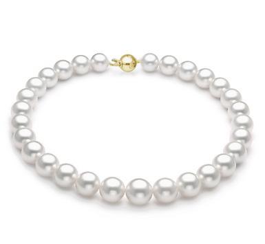 Ожерелье из белого морского Австралийского жемчуга. Жемчужины 11-13,7 мм