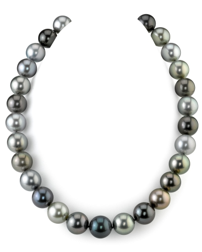 "Ожерелье ""микс"" из круглого морского Таитянского жемчуга 12-16,1 мм"