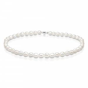 Ожерелье из белого барочного речного жемчуга. Жемчужины 10-11 мм