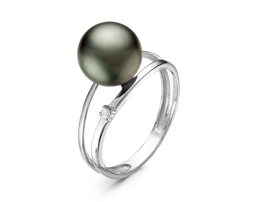 Кольцо из серебра с Таитянской жемчужиной 9-9,5 мм