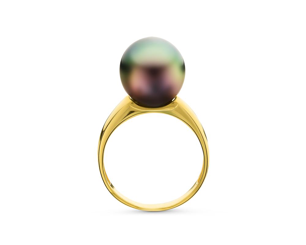 Кольцо из серебра с Таитянской жемчужиной 11-12 мм
