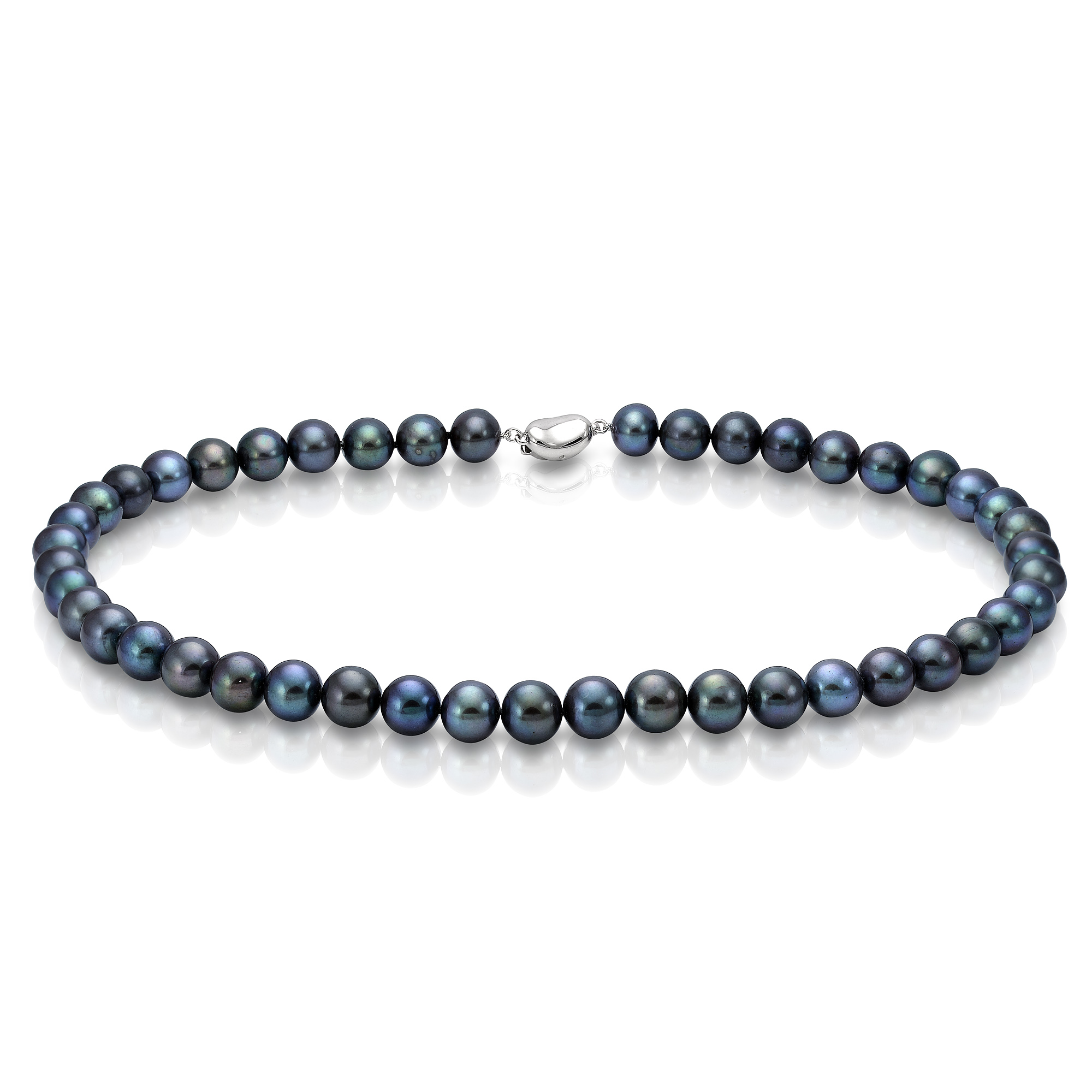Ожерелье из черного морского жемчуга (Южный Китай). Жемчужины 7,5-8 мм
