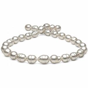 Ожерелье из белого барочного Австралийского жемчуга 12,1-14,5 мм