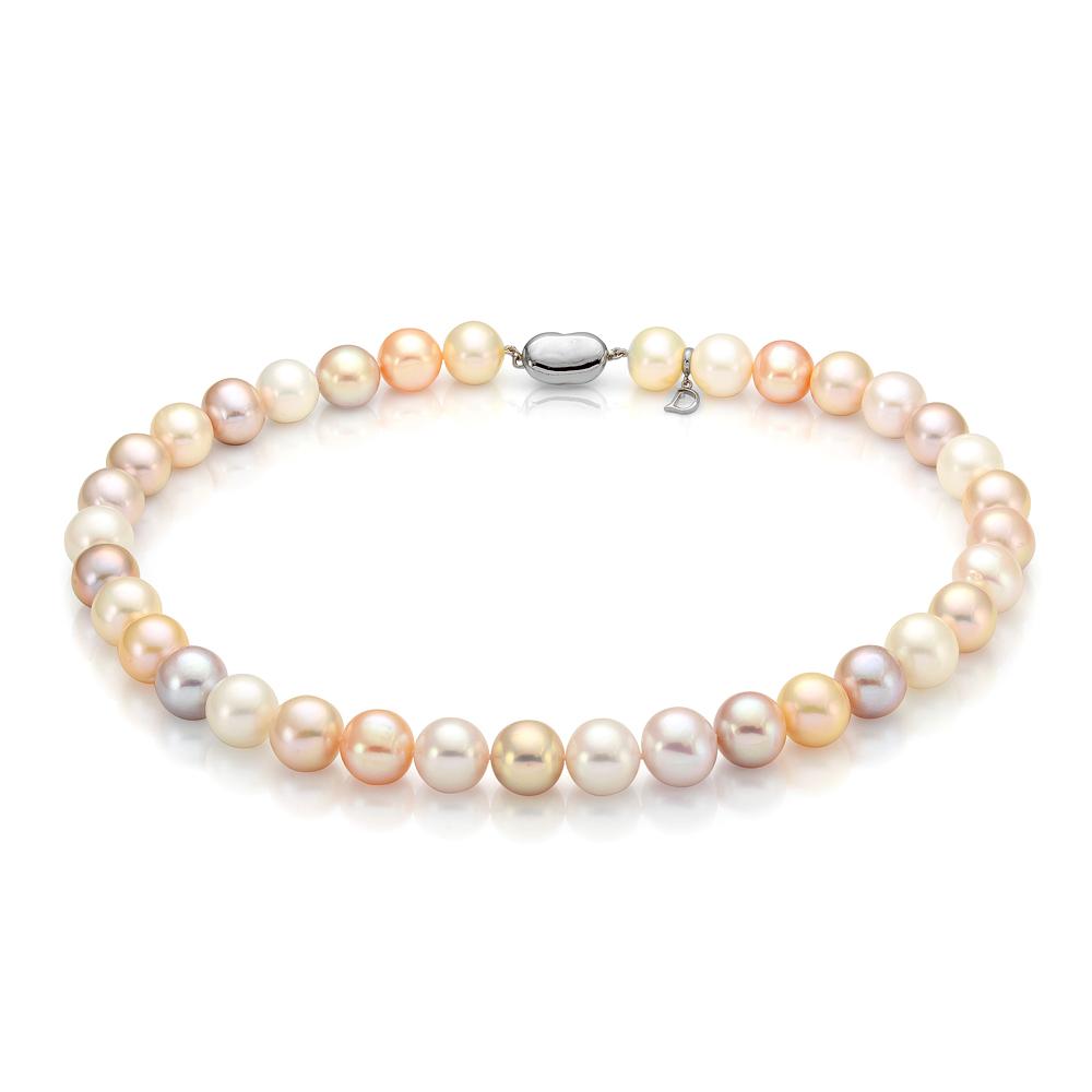 "Ожерелье ""микс"" из круглого речного жемчуга. Жемчужины 10,5-11,5 мм"