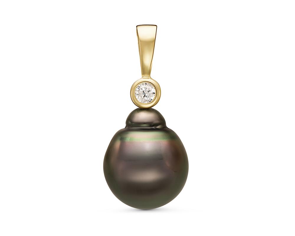 Кулон из серебра с морской Таитянской жемчужиной 11-11,5 мм