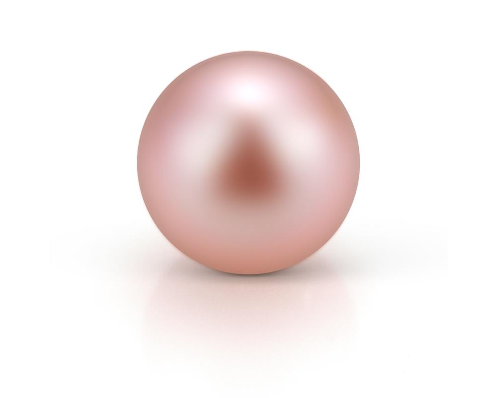 Жемчужина розовая идеально круглая 8,5-9 мм. Качество наивысшее