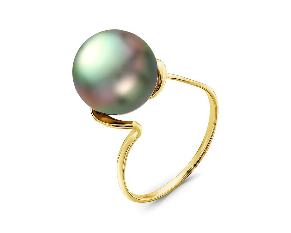 Кольцо из золота с Таитянской жемчужиной 11-11,5 мм