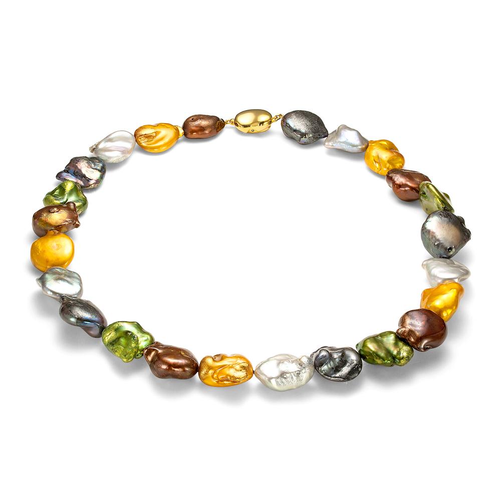 """Ожерелье из барочного пресноводного жемчуга """"микс"""". Жемчужины 14-15 мм"""