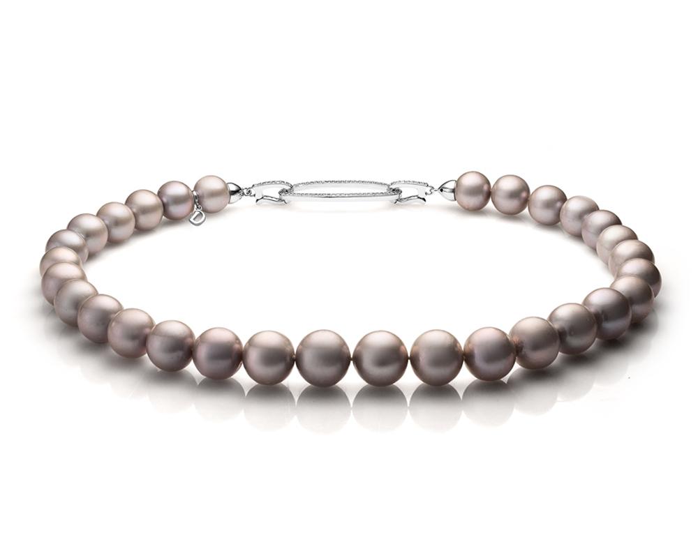 Ожерелье из 30 жемчужин из серебристого речного жемчуга