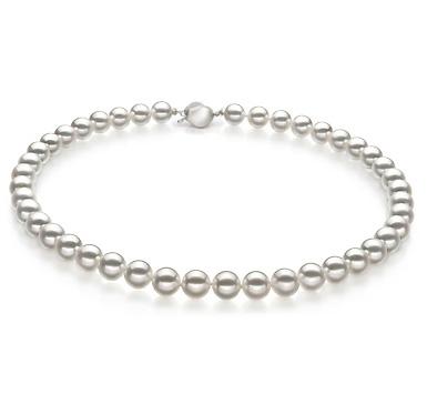 Ожерелье из белого морского Австралийского жемчуга 10-12,9 мм