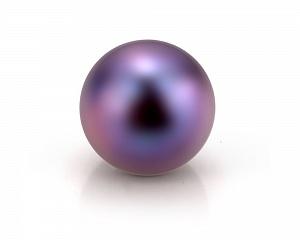 Жемчужина черная идеально круглая 7,5-8 мм. Качество наивысшее