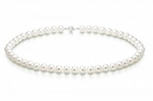 Ожерелье из белого морского круглого жемчуга. Жемчужины 7-7,5 мм