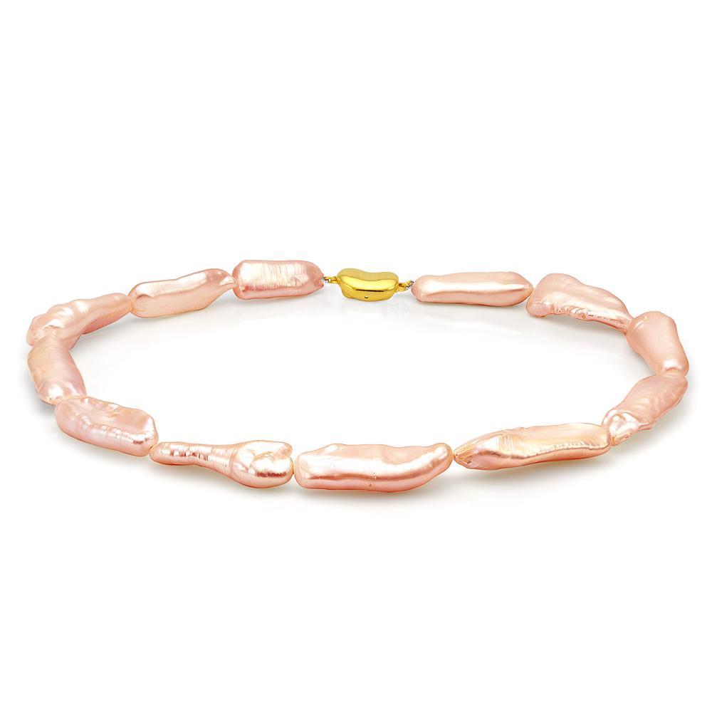 Ожерелье из розового барочного жемчуга. Жемчужины 12-17 мм