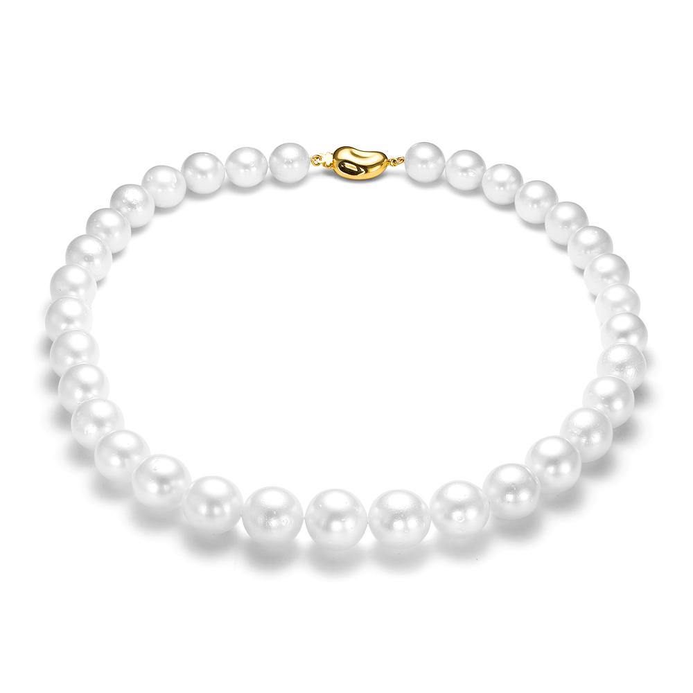 Ожерелье из белого круглого морского Австралийского жемчуга 11-14,5 мм