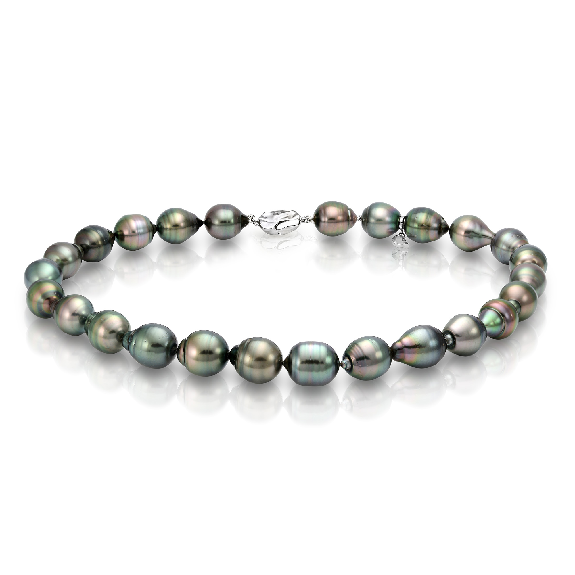 Ожерелье из барочного морского Таитянского жемчуга 11-13,2 мм