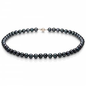 Ожерелье из черного морского жемчуга. Жемчужины 9-10 мм