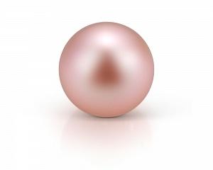 Жемчужина розовая идеально круглая 7-7,5 мм. Качество наивысшее