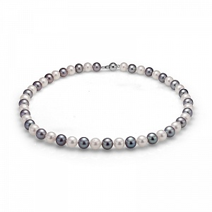"Ожерелье ""микс"" из круглого речного жемчуга. Жемчужины 9-10 мм"
